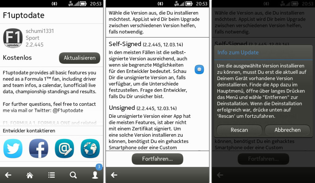 AppList - Update procedure from Store to selfsigned/unsigned version