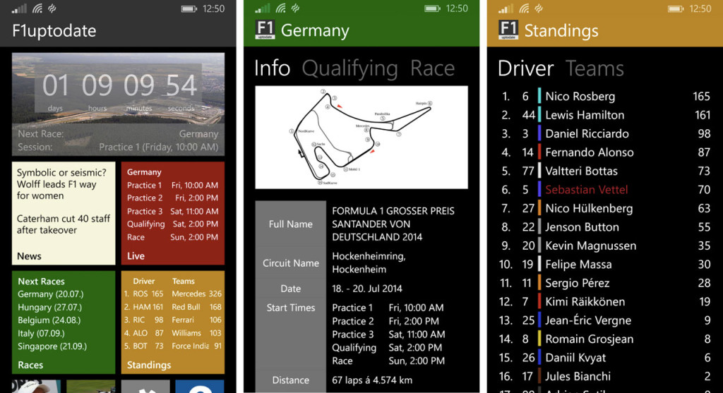 F1uptodate - Windows Phone