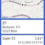 Detail-Ansicht (Symbian)