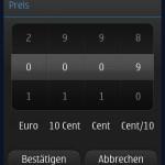 Preis melden-Eingabe (Symbian)
