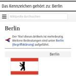 Suchergebnis mit zugehöriger Wikipedia-Seite (Symbian)