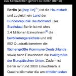 Suchergebnis mit zugehöriger Wikipedia-Seite (Windows Phone)