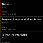 Day view / Tagesansicht (Windows Phone)