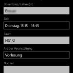 Edit event / Veranstaltung bearbeiten (Windows Phone)