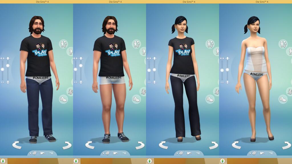 #Omiliebe Unterwäsche für Die Sims 4