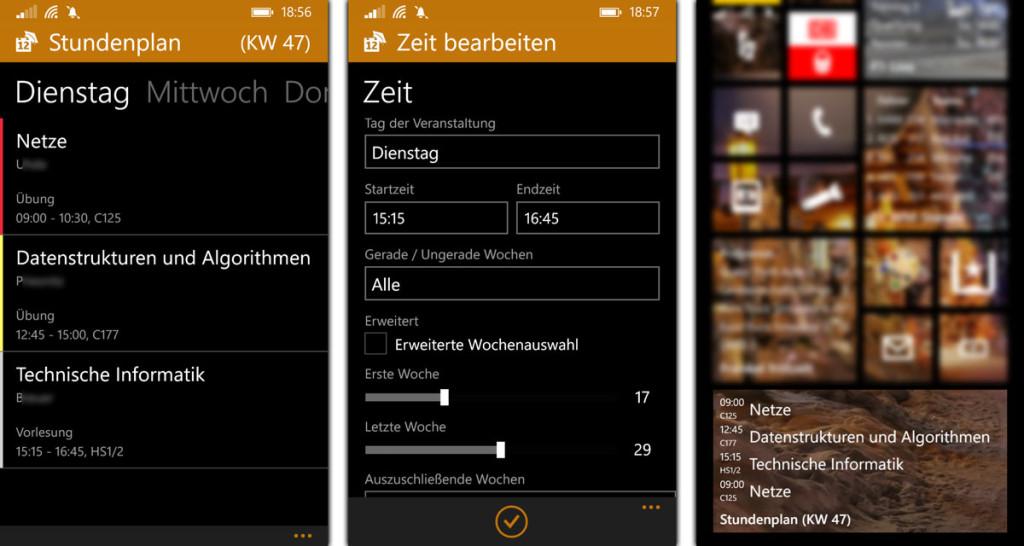 UniPlaner - Windows Phone