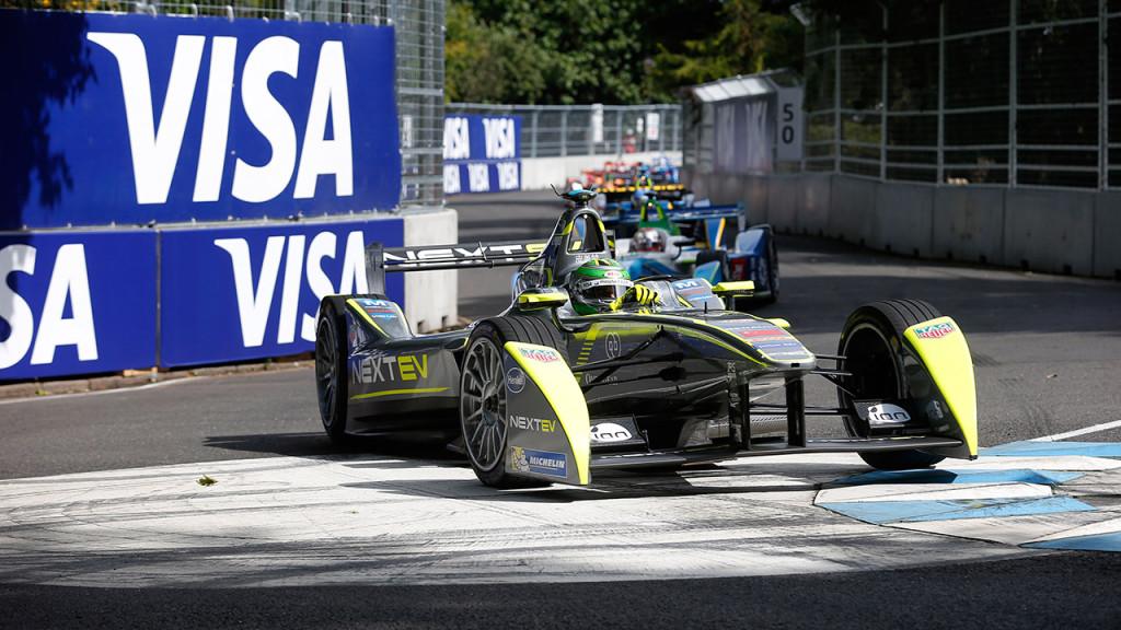 Gewinner der ersten Formel E-Saison Nelson Piquet im Battersea Park beim London ePrix