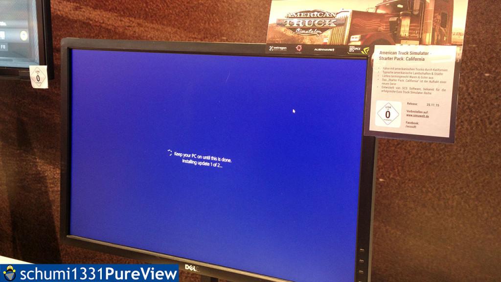 Der ATS wollte nicht, das PC neustarten war mit Updates verbunden...