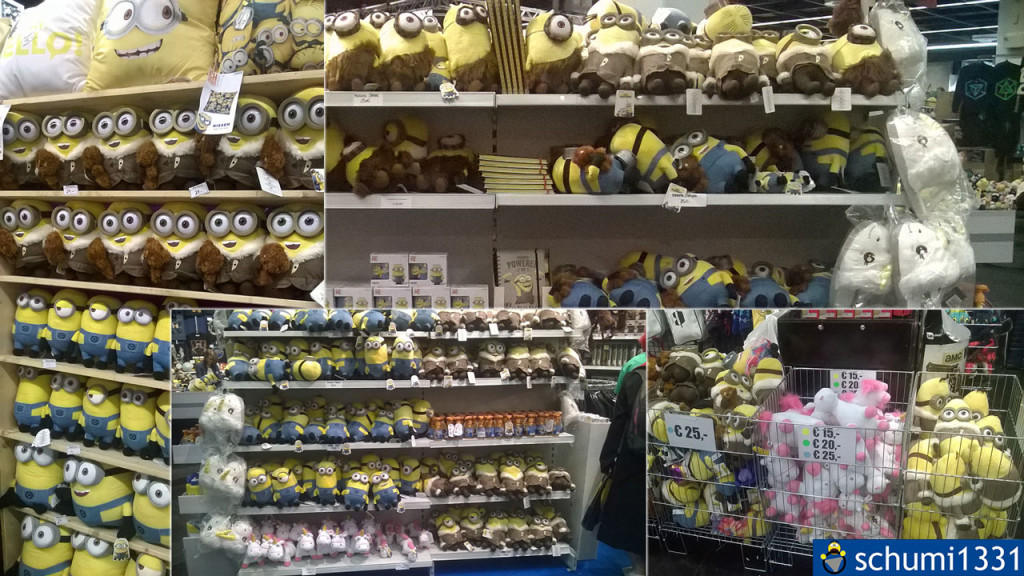 Im Merchandise-Bereich in Halle 5 gab es auch - MINIONS! :D