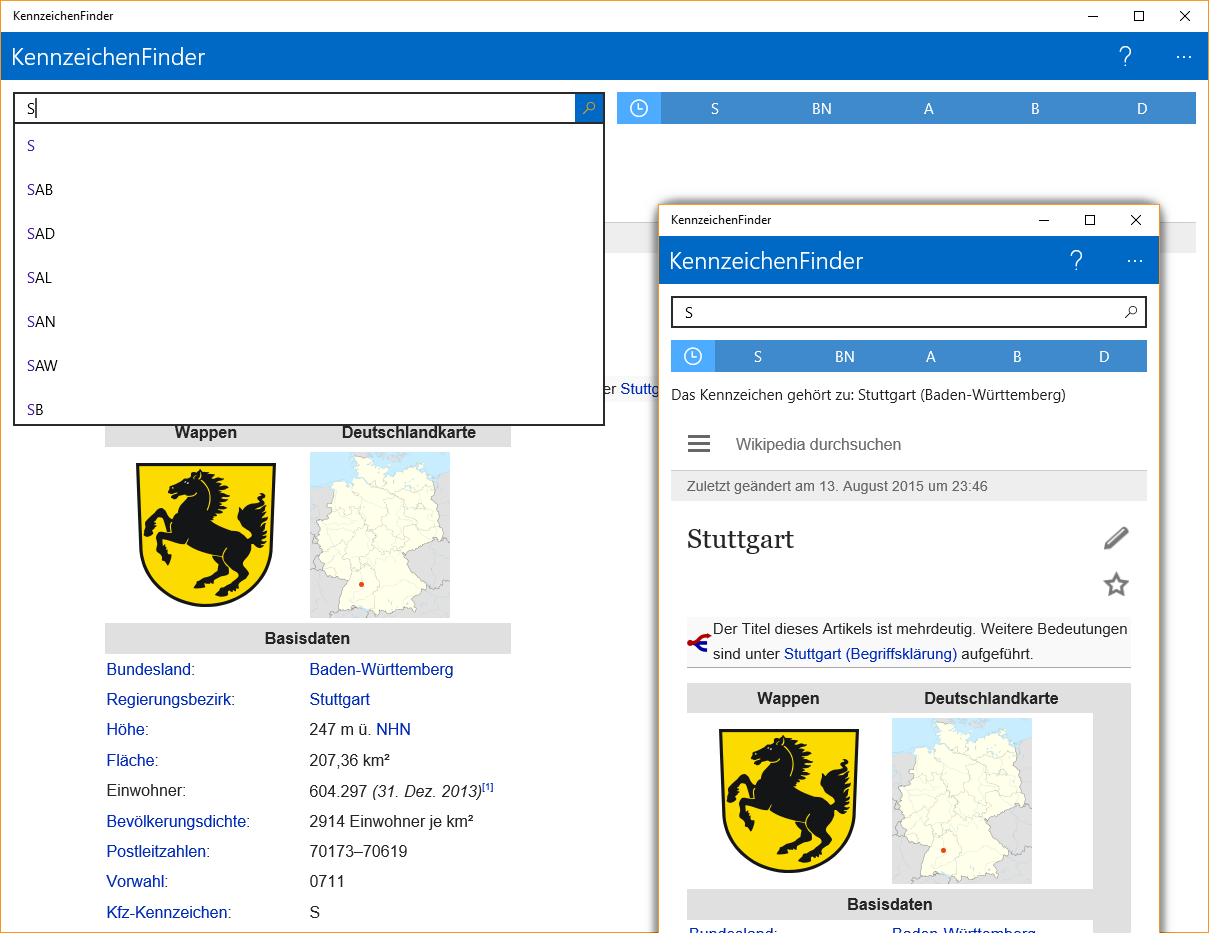 KennzeichenFinder für Windows 10