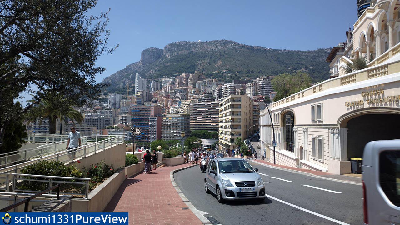 Blick auf die Stadt von der Geraden aus
