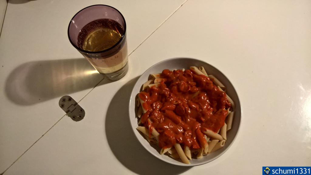 Das Endergebnis vom ersten Kochen :)