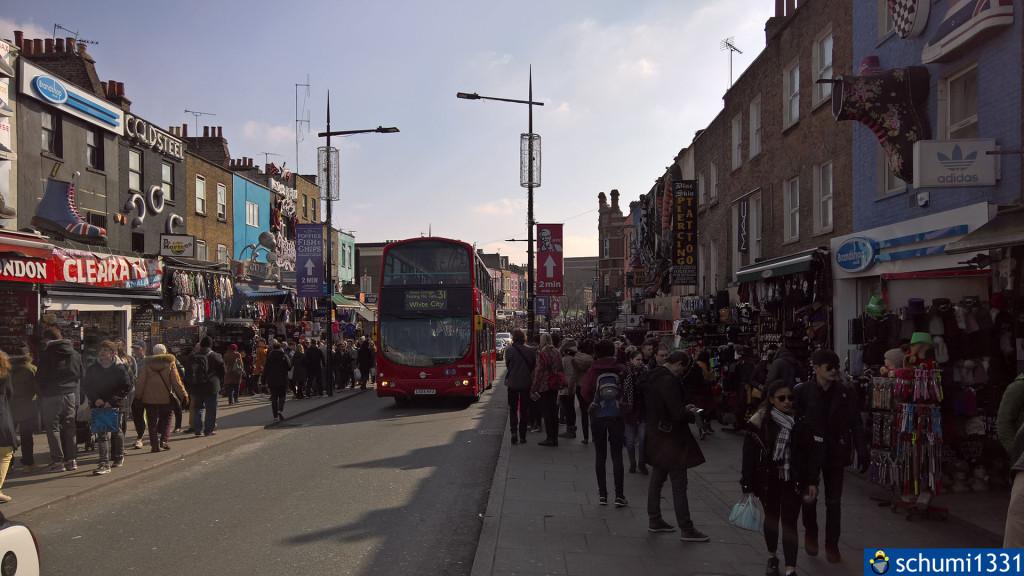 Camden Market, man achte auf die Hauswände