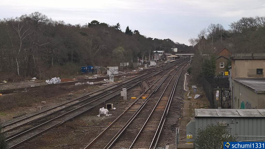 Der Bahnhof von Weybridge