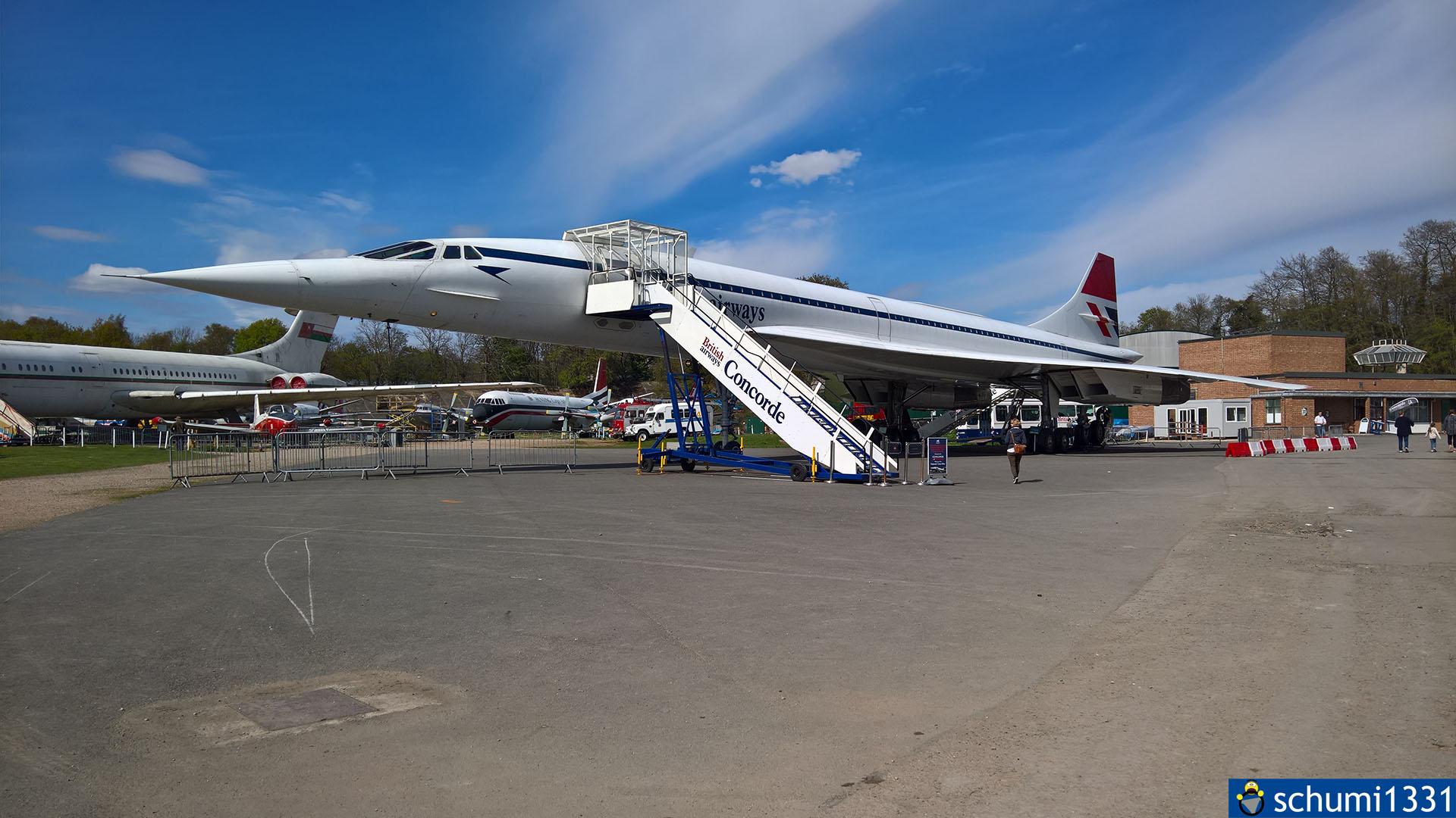Die Concorde aus nächster Nähe