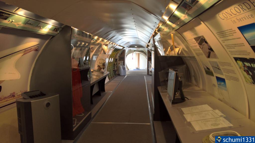 Der erste Teil der Concorde war wie ein Museum eingerichtet...
