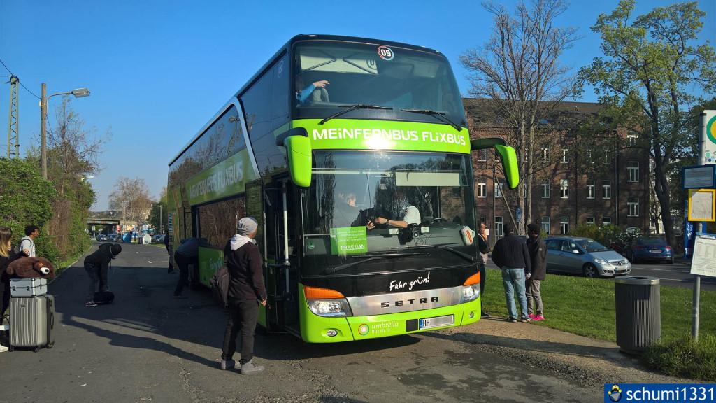 """Nach Hause ging es mit FlixBus, hier am wunderschönen Bonner """"Busbahnhof"""" :D"""