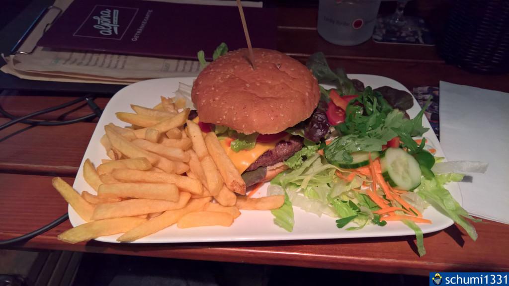 Ein Burger im Alpha :D