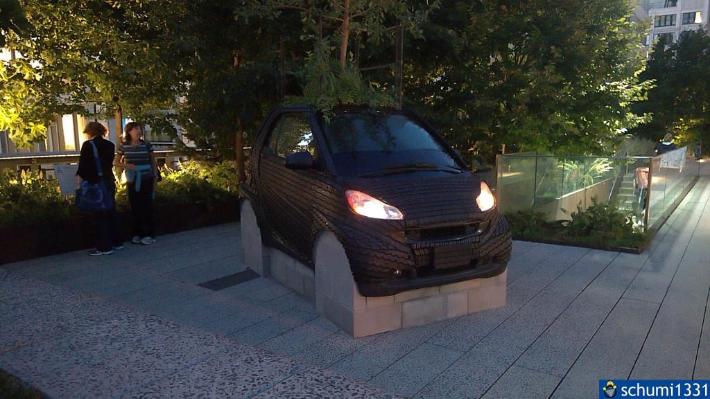Ein Smart aus Reifen :D