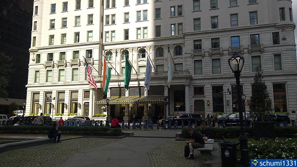 Das Plaza Hotel, bekannt aus Kevin allein in New York