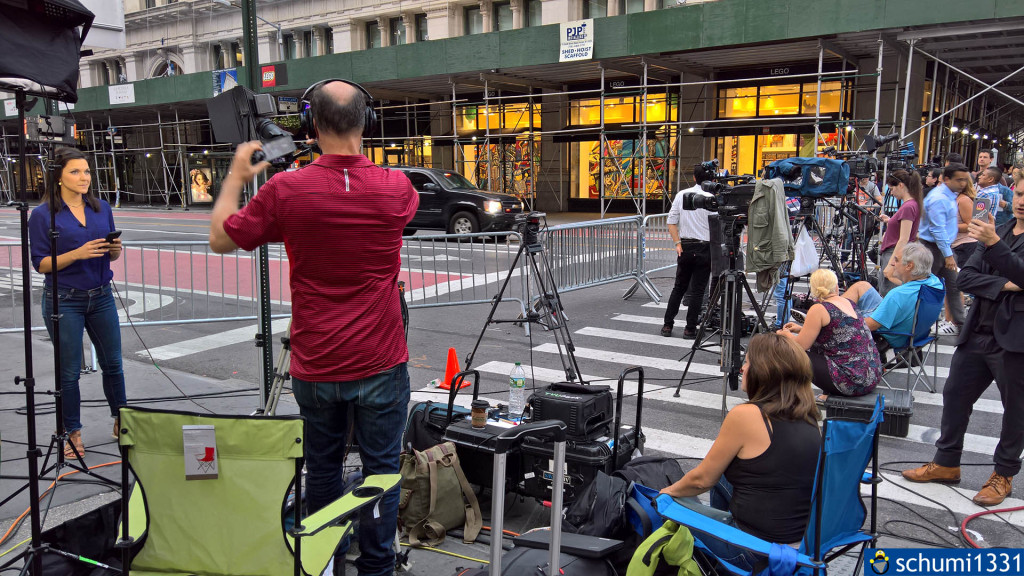 Reporter-Auflauf