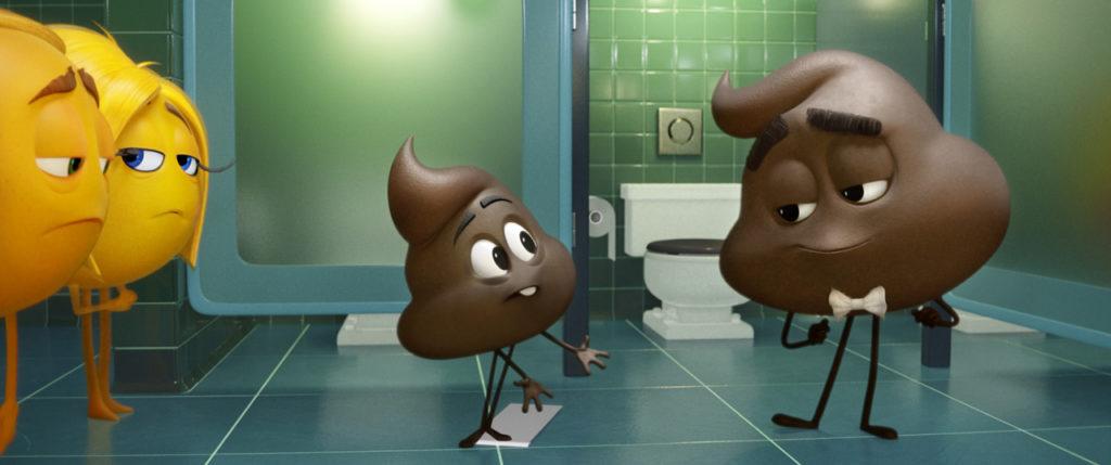 Die Kackhaufen-Emoji sind im Film die Personifizierung von flachem Humor