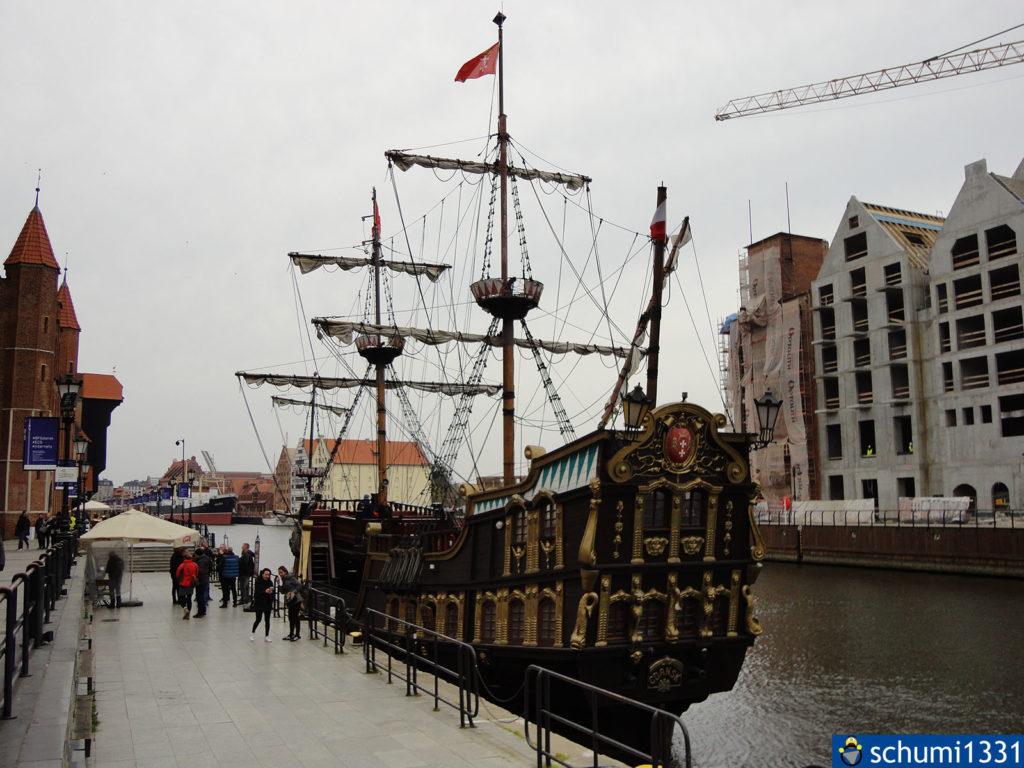 Das Piratenschiff, mit dem wir die Rückfahrt bestritten haben