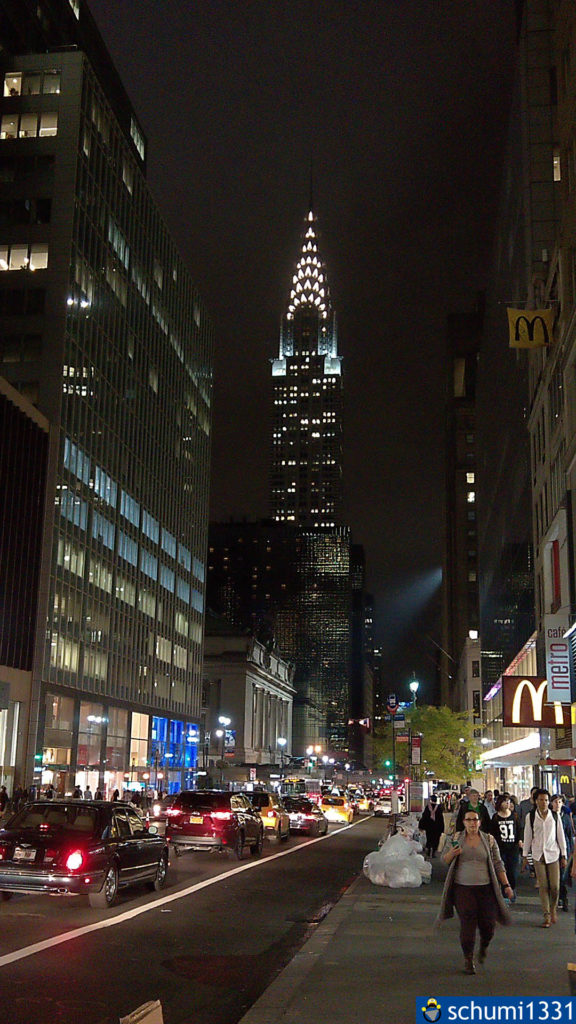 Das Empire State Building bei Nacht