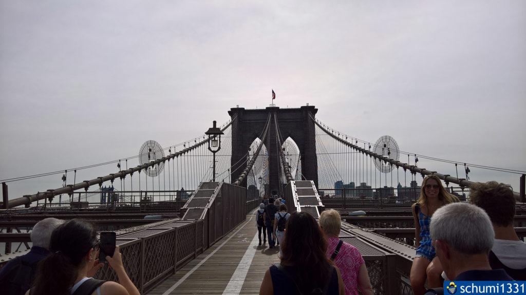 Momentaufnahme vom ersten Betreten der Brücke - zwei weitere sollten noch folgen...