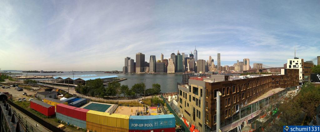 Panorama-Ansicht von Brooklyn Heights