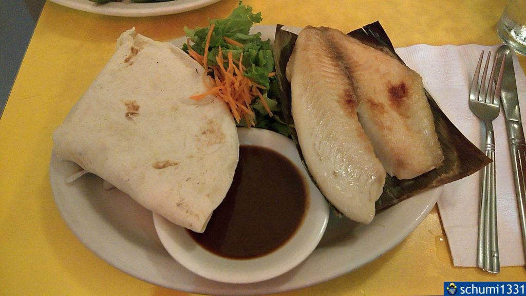 Die Bestandteile des Fish Taco - ich musste sie für das Foto nicht einmal anordnen