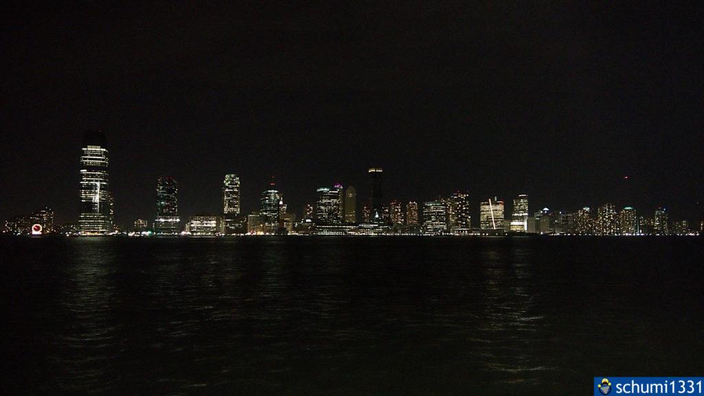 Ein Blick auf New Jersey bei Nacht