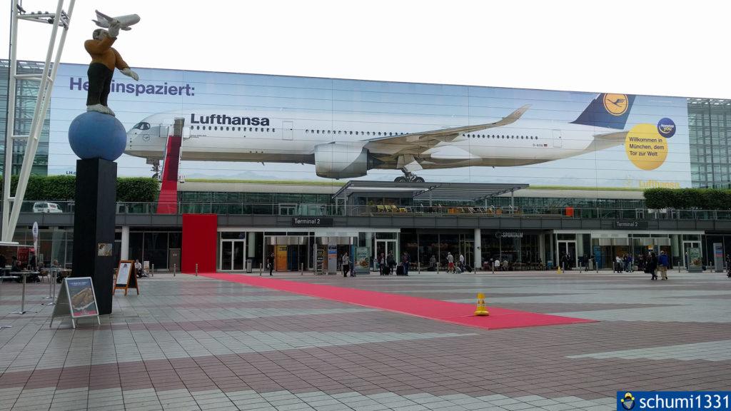 Was für eine Metapher am Flughafen München bei dem Tag...
